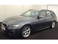 Mineral Grey BMW 320 2.0TD Touring 2013 d M Sport FROM £67 PER WEEK!