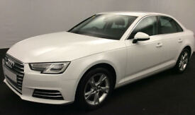 White AUDI A4 SALOON 1.4 1.6 1.8 2.0 TFSI Petrol S LINE FROM £72 PER WEEK!