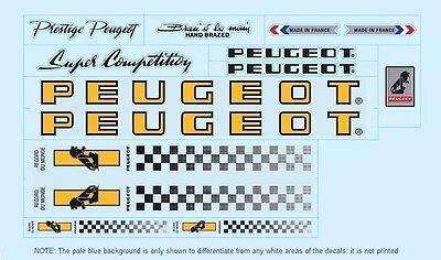 PY10 vélo autocollants N.0358 decals Transferts Peugeot PX10