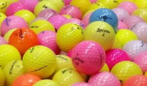 24 coloured golf balls in excellent condition for 10$