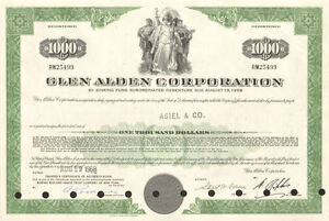 Glen-Alden-Corporation-1-000-bond-certificate-coal-stock-share-scripophily