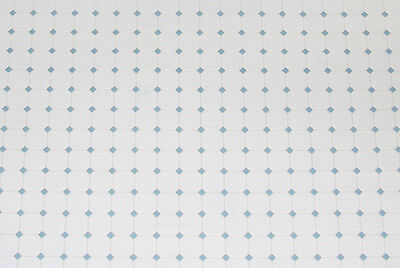 NICE 1:12 Scale Blue & White Diamond Patterned Dollhouse Tile Flooring #FF60650B