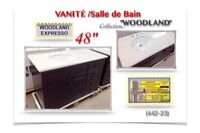 "(442-23)  VANITÉ ( 48"") /Salle de Bain /Collection  ""WOODLAND"" ."