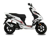 NEW 2017 AJS FIREFOX 50CC SPORTS 2 STROKE SCOOTER MOPED TWIST & GO NATIONWIDE DELIVERY
