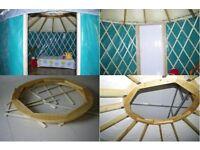 £1800£ for 6m diameter luxury wood frame yurt for holiday park yurt