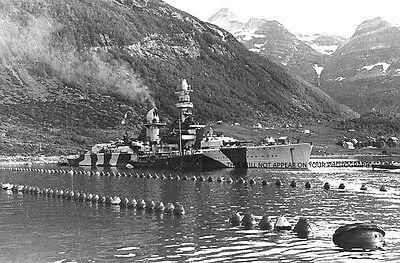 BATTLE OF THE BARENTS SEA - 12 PHOTOS-HMS SHEFFIELD, JAMAICA, HIPPER, LUTZOW etc