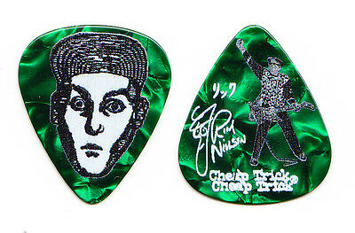 Cheap Trick Rick Nielsen Signature Green Pearl Guitar Pick #2 - 2015 Tour