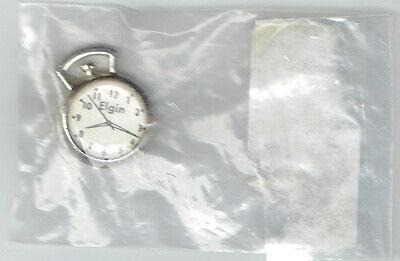 Vintage Miniature Elgin Pocket Watch Plastic Charm
