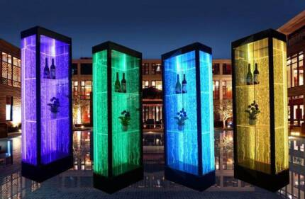 LED Light Water Display Cabinets/Wall Units