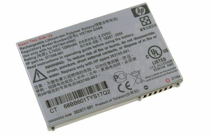 377358-001 - Hp Smart Battery 1200mah Li-ion For Ipaq Pocket Pc Series