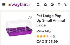 Never used pet cage + free food & extras!
