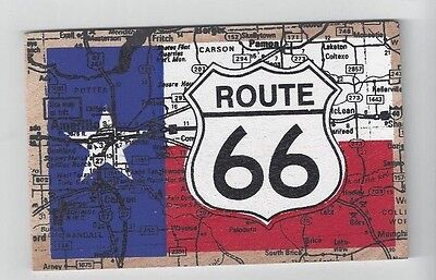 Vintage Wood Route 66 Map Post Card made by Vandercraft