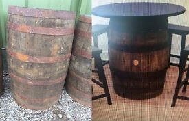 Solid Oak Whiskey Barrels Authentic Used REDUCED IN PRICE Collect From Wakefield West Yorkshire