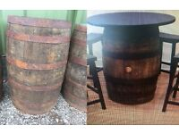 Solid Oak Whiskey Barrels Authentic Used Collect From Wakefield West Yorkshire