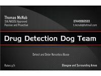 Drug Detection Dog Team