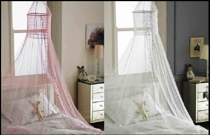 popsicle design bed canopies white and pink