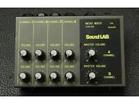 mixer Soundlab Micro mini 8 channel stereo Mixer. WAM490