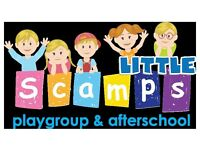 Playgroup and Afterschool Spaces available