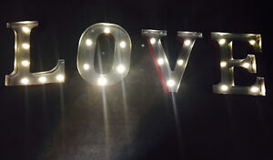'LOVE' marquee sign