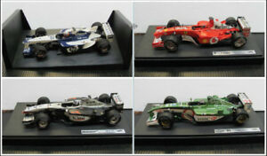 Set of 4 Diecast Racing Cars 1:18