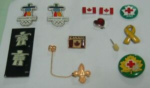 TWELVE PIECES OF COSTUME PINS/BROOCHES