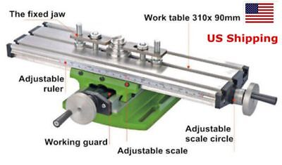 Us Compound Milling Machine Work Table Mini Lathe Cross Slide Bench 31090mm