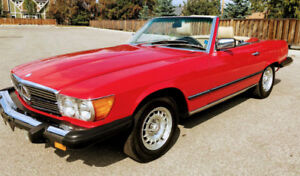 1985 Mercedes Benz 380SL convertible, 29 500 km, concours ready