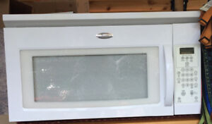 Over stove white microwave
