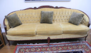 ANTIQUE SOFA WITH MATCHING TWO CHAIRS