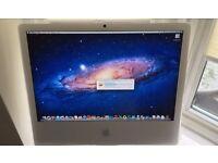 "Apple iMac 24"" 2.16ghz Intel CPU 250GB HD, 3GB ram, Nvidia graphics"