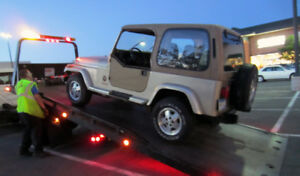 Flatbed towing for most vehicle, pick up trucks & tools