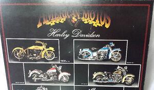 2 Affiches Laminées Harley VINTAGE années 70, 24X36 p. 25$ ch.