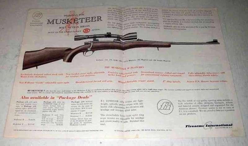 1963 Firearms International Musketeer II Rifle Ad