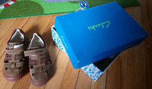 Kids Boy Sandals Clarks Size 10.5W EU 28W - $ 15 Like NEW in Box