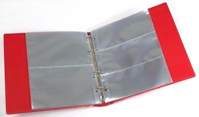 KOBRA Banknotenalbum mit 20 glasklaren Folienhüllen im wattierten Norm-Ringbinde