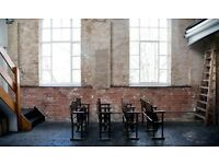 Industrial location with brick walls for filming and photoshoot in brick lane