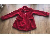 BARGING!!!!!!! Red coat for girls age 11-12