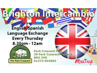 Brighton English/Spanish Language Exchange 🍷 Every Thursday 🕣 8.30pm - 12am 🍻 Park Crescent Pub