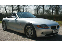2003 BMW Z4 2.5 CONVERTIBLE MANUAL SPORTS ROADSTER WARRANTIED LOW MILEAGE