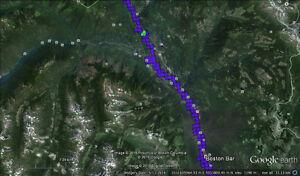 Placer Gold Claim on Fraser River North of Hope