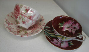 Tasse a thé   Chintz  Johnson Bros & Occupied Japan Tea cup