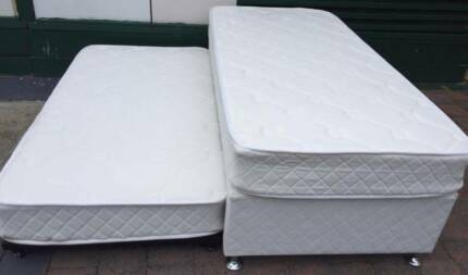 Excellent condition single trundle bed for sale. Delivery availab