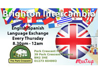 Brighton English/Spanish Language Exchange 🍷 Every Thursday 8.30pm - 12am 🍻 Park Crescent Pub
