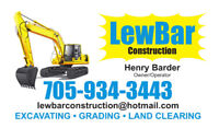 LewBar Construction - For all of your excavation needs!