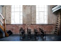 Industrial location with brick walls,high ceiling for filming and photoshoot