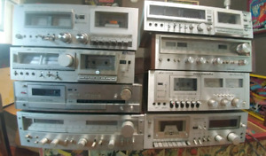 Receivers and Tape Decks for sale (Vintage)