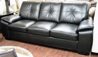 SOFA & LOVESEAT with nail-head accents in neutral, quality fabr
