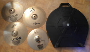 Cymbals and hard case package