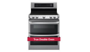 LG Solid-in oven  7.3 cu. ft. Electric True Double Oven Range