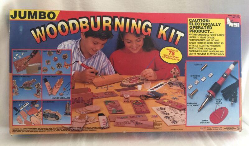 Vintage 1993 Jumbo Woodburning Kit NSI New Open Box